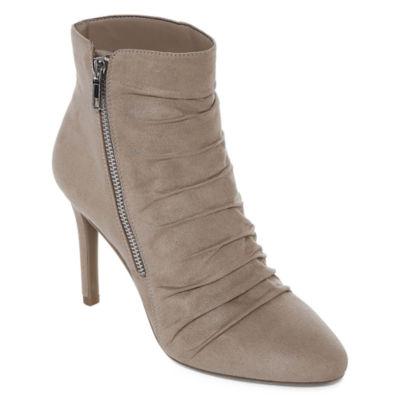 Worthington Womens Zeebo Stiletto Heel Zip Bootie