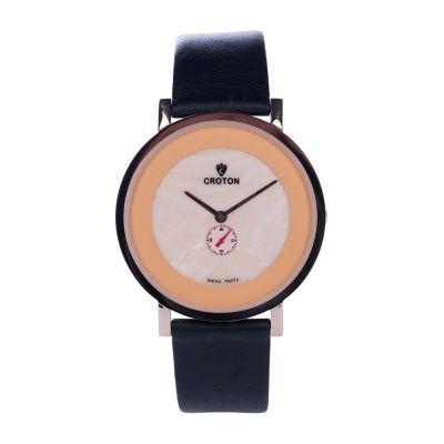 Croton N/A Mens Silver Tone Bracelet Watch-Ca301299bkor