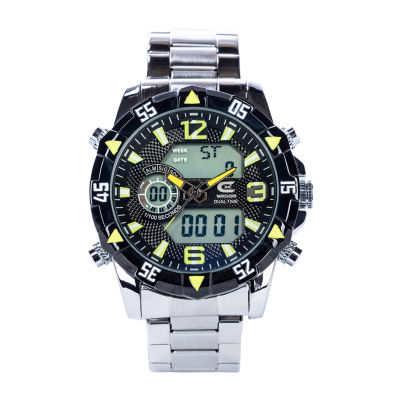 Croton N/A Mens Silver Tone Bracelet Watch-Cc311362ssbl