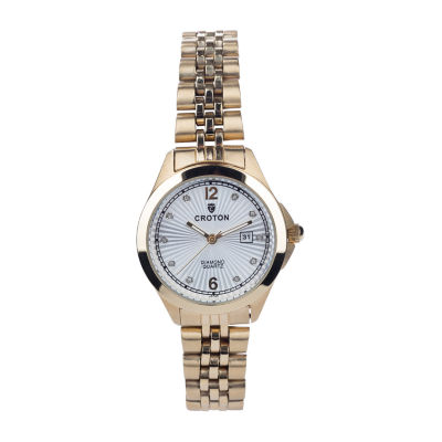 Croton N/A Mens Silver Tone Bracelet Watch-Cx328038sswh