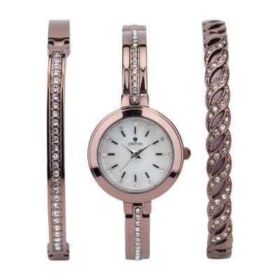 Croton N/A Mens Silver Tone Bracelet Watch-Cn307598rhpv