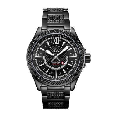 JBW Mens 10 YR Anniversary GMT Globetrotter 0.21 ctw Diamond Watch J6365-10c