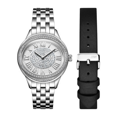 JBW Women's Plaza Oval Diamond Watch & Band Set J6366A