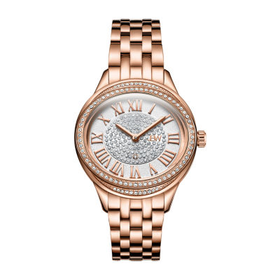 JBW Women's Plaza Oval Diamond 18K Rose Gold-Plated Watch & Band Set J6366C
