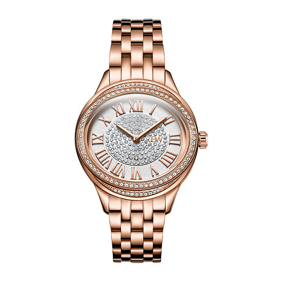 JBW Plaza Oval Womens Diamond Accent Rose Goldtone Bracelet Watch-J6366-Setc