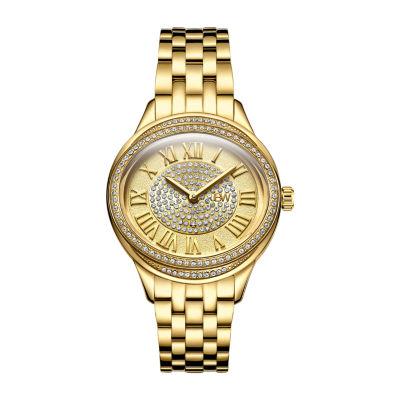 JBW Women's Plaza Oval Diamond 18K Gold-Plated Watch & Band Set J6366B