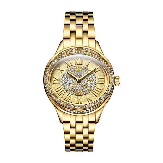 JBW Women's Plaza Oval Diamond 18K Gold-Plated Watch & Band Set J6366B