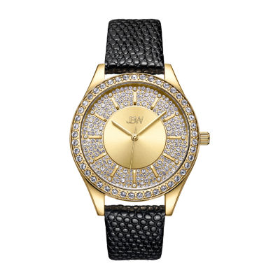 JBW 10 Yr Anniversary Mondrian 1/8 C.T. T.W. Genuine Diamond Womens Black Strap Watch-J6367-10a
