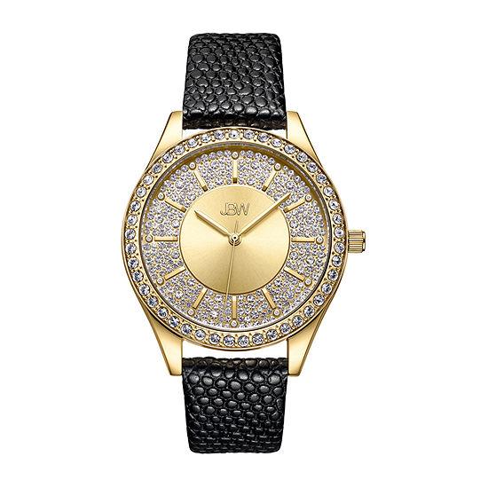 JBW 10 YR Anniversary Women's Mondrian 0.12 ctw Diamond Leather Watch J6367-10A