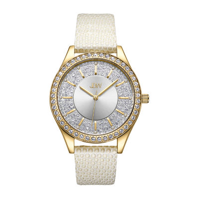 JBW 10 Yr Anniversary Mondrian 1/8 C.T. T.W. Genuine Diamond Womens Diamond Accent White Stainless Steel Bracelet Watch-J6367-10b
