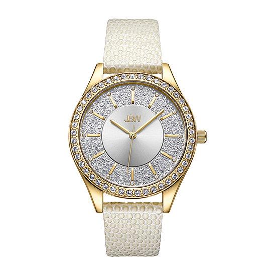 JBW 10 YR Anniversary Women's Mondrian 0.12 ctw Diamond Leather Watch J6367-10B
