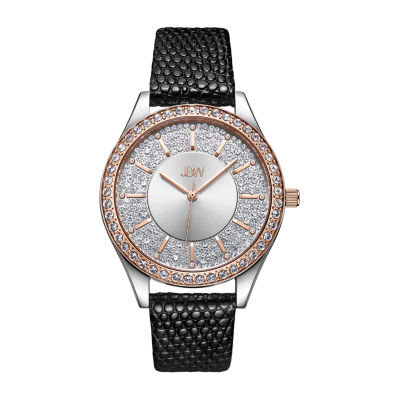 JBW 10 Yr Anniversary Mondrian 1/8 C.T. T.W. Genuine Diamond Womens Black Bracelet Watch-J6367-10c