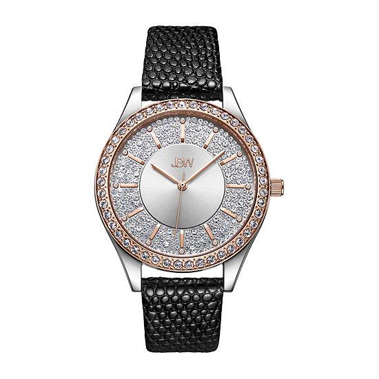 JBW 10 Yr Anniversary Mondrian 1/8 C.T. T.W. Genuine Diamond Womens Diamond Accent Black Stainless Steel Bracelet Watch-J6367-10c