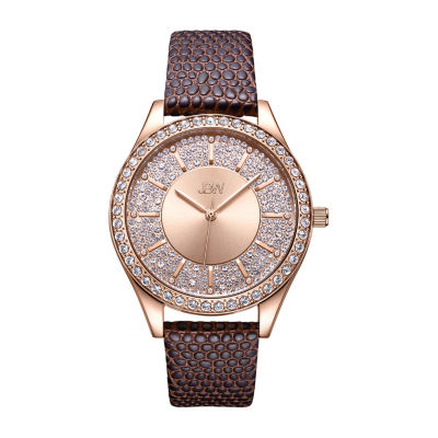 JBW 10 Yr Anniversary Mondrian 1/8 C.T. T.W. Genuine Diamond Womens Brown Bracelet Watch-J6367-10d
