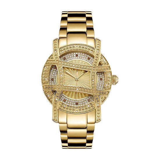JBW 10 Yr Anniversary Olympia 1/5 C.T. T.W. Genuine Diamond Womens Diamond Accent Gold Tone Bracelet Watch-Jb-6214-10b