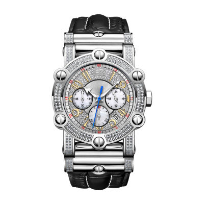 JBW Men's 10 YR Anniversary Phantom 1.96 ctw Diamond & Chronograph Watch JB-6215-10A