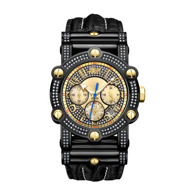 JBW Men's 10 YR Anniversary Phantom 1.96 ctw Diamond & Chronograph Watch JB-6215-10B