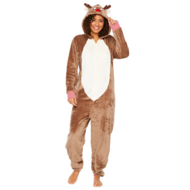 North Pole Trading Co. Unisex Plush Reindeer Onesie