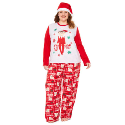 Elf on the Shelf Womens-Plus Pant Pajama Set 2-pc. Long Sleeve Family