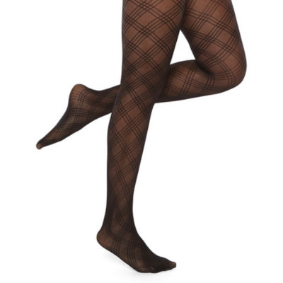 Mixit Lattice Plaid Tights