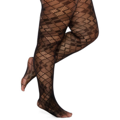 Mixit Diamond Pattern Tights-Plus