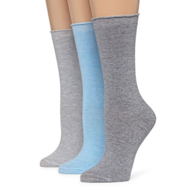 Mixit Marled 3 Pair Crew Socks - Womens