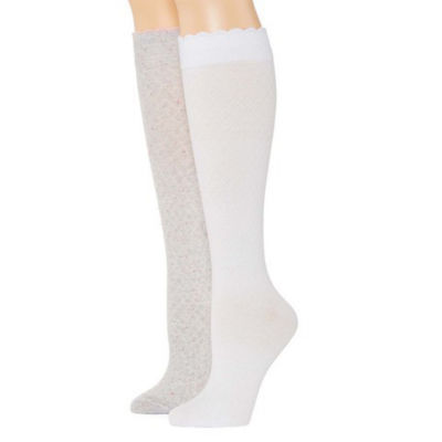 Mixit Marled 2 Pair Over the Calf Socks - Womens