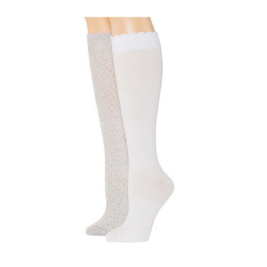 Mixit Marled 2 Pair Over the Calf Socks Womens