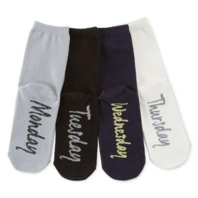 Mixit 4 Pair Crew Socks - Womens