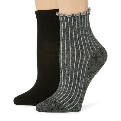 Mixit 2 Pair Quarter Socks - Womens