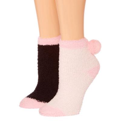Snuggle Feet 2 Pair Low Cut Socks - Womens