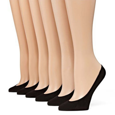 Mixit 6 Pair Microfiber Liner Socks -Extended Size