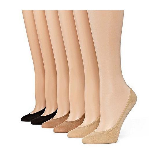 Mixit 6pk Microfiber Liner Socks- Extended