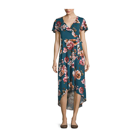 Byby Short Sleeve Floral Fit Flare Dress Juniors