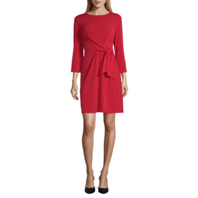 Worthington Tie Front Sheath Dress