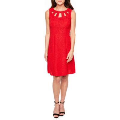 Alyx Sleeveless Glitter Knit Fit & Flare Dress