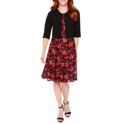 Perceptions 3/4 Sleeve Lace Jacket Dress
