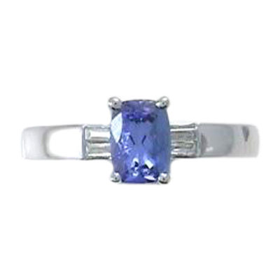 Womens 1/5 CT. T.W. Genuine Blue Tanzanite Sterling Silver Cocktail Ring