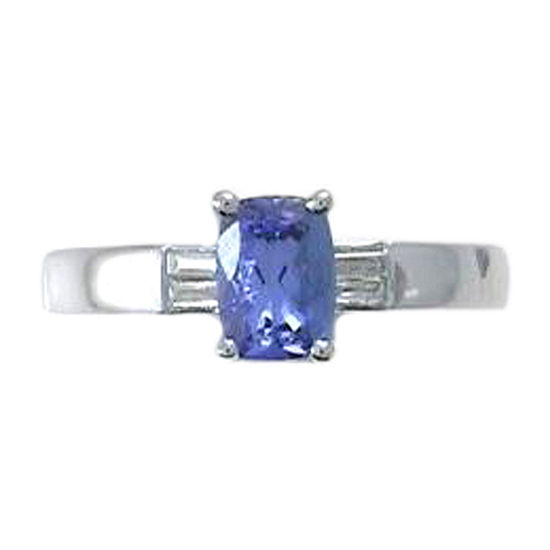 LIMITED QUANTITIES! Womens 1/5 CT. T.W. Genuine Blue Tanzanite Sterling Silver Cocktail Ring