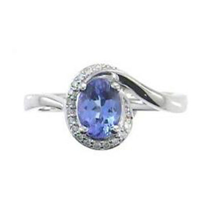 Womens 1/10 CT. T.W. Genuine Blue Tanzanite Sterling Silver Cocktail Ring