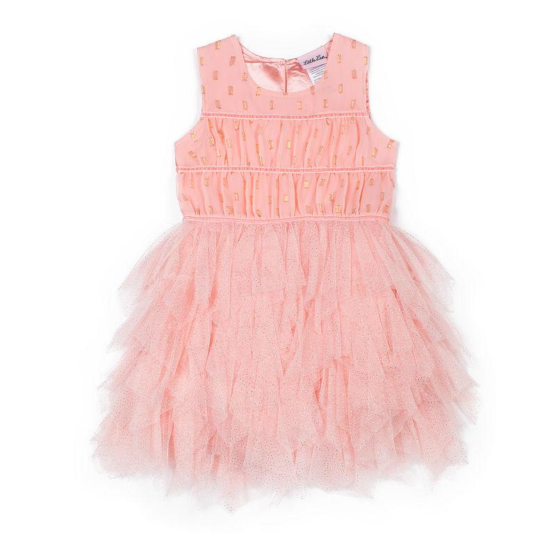 Little Lass Sleeveless Pattern A-Line Dress – Baby Girls, Size 24 Months
