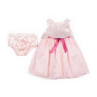 Little Lass Sleeveless Tulle Dress - Baby Girls