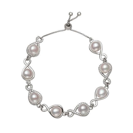 Silver Tone Sterling Silver 7.5 Inch Box Chain Bracelet