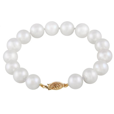 White Cultured Freshwater Pearl Beaded Bracelet