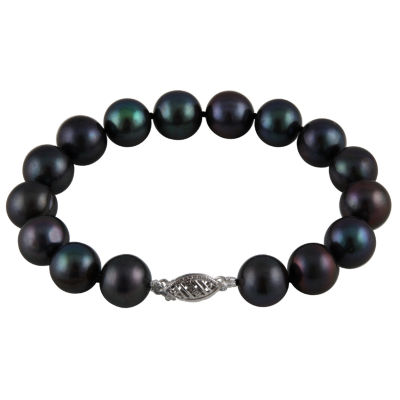 Black Cultured Freshwater Pearl Beaded Bracelet