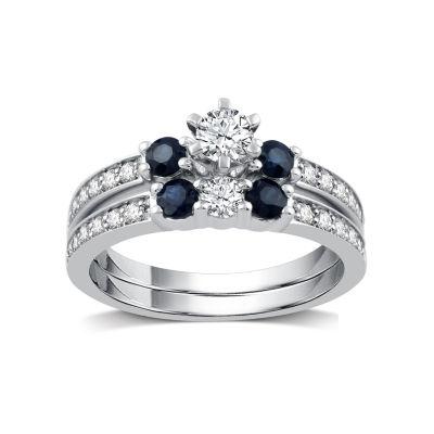 I Said Yes Womens 1/5 CT. T.W. Round White Diamond Platinaire Engagement Ring