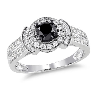 Womens 1 CT. T.W. Black Diamond 14K Gold Engagement Ring