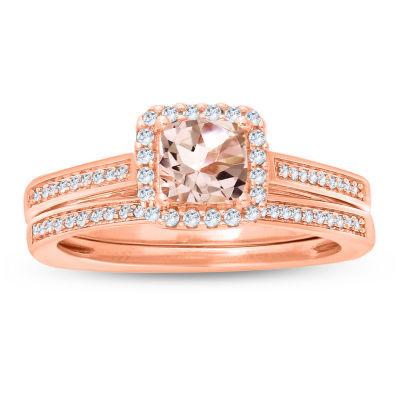 Womens 3/4 CT. T.W. Genuine Multi Color Diamond 10K Gold Bridal Set
