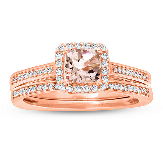 Womens 3 4 Ct Tw Genuine Multi Color Diamond 10k Gold Bridal Set