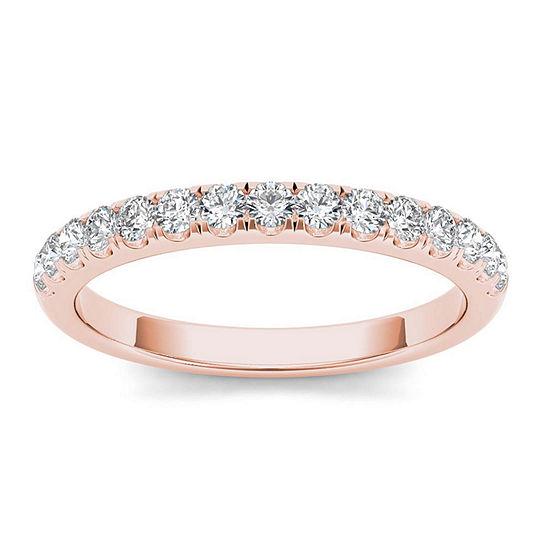 2 Mm 1/3 CT. T.W. Genuine White Diamond 10K Gold Wedding Band
